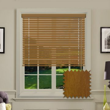Cedar Wood Look Aluminium venetian blind